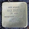 Stolperstein Holsteiner Ufer 10 (Hansa) Max Baron.jpg