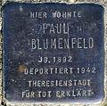 Stolperstein Köln, Paul Blumenfeld (Robert-Heuser-Straße 3).jpg