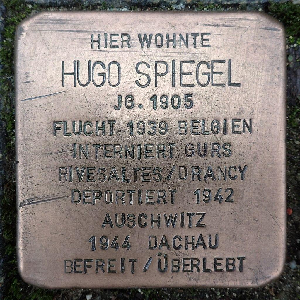 Stolperstein für Hugo Spiegel