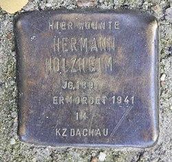 Photo of Hermann Holzheim brass plaque