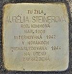 Stolperstein für Aurelia Steinerova (Prievidza).jpg