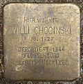 Stumbling block for Willi Chocinski (Alexianerstraße 3)