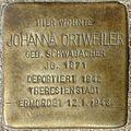 Stolpersteine Würzburg, Johanna Ortweiler (Bismarckstraße 5).jpg