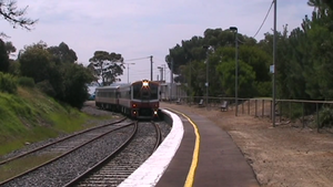 Passing loop - A passing loop at Stony Point railway station in Australia
