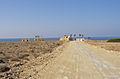 Straße zum Restaurant Oasis bei Dipkarpaz (Nord Cypern) 2003.jpg