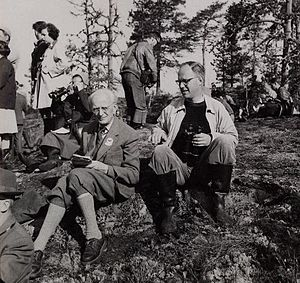 Erwin Stresemann - Stresemann at Vesterkulla, June 8, 1958 during the XII Ornithological Congress in Finland