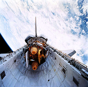 STS-70 - TDRS-G in Discovery's Payload Bay.