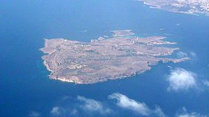 Comino - Aerial view of Comino