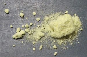 English: Sulfur powder
