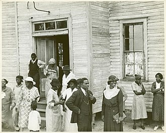Black church - Outside of a Black church in Little Rock, Arkansas, 1935.