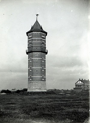 Lergravsparken - Sundby Water Tower in 1902