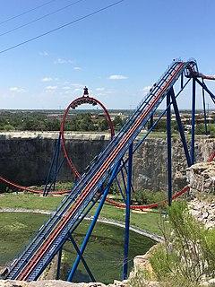 Superman: Krypton Coaster Roller coaster at Six Flags Fiesta Texas
