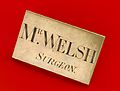 Surgeon's nameplate, England, 1830-1890 Wellcome L0058786.jpg
