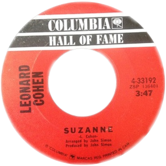 Suzanne (Leonard Cohen song) - Image: Suzanne by Leonard Cohen Canadian vinyl