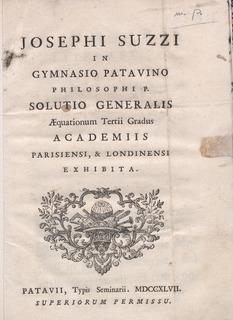 Giuseppe Suzzi italian mathematician