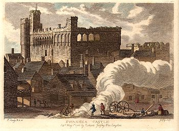 Swansea Castle in 1786