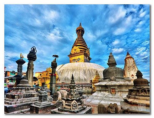 Swayambhunath in Kathmandu Valley, Nepal