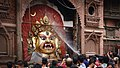Swet Bhairav being cleaned with water.jpg