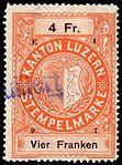 Switzerland Lucerne 1897 revenue 6 4Fr - 64 - E 1 97.jpg
