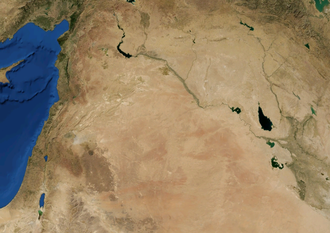 Syrian Desert - Syrian Desert on a topographic map