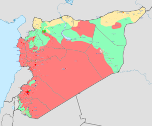 Battle of Tell Abyad (2013) - Map of the Syrian Civil War as of November 2013