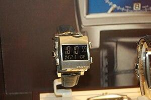 TAG Heuer Monaco - The Monaco 69 displaying its digital side.