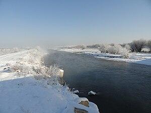 Talas River - Talas River near Taraz
