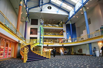 The Children's Museum of Indianapolis - Museum lobby and atrium