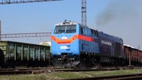 File:TE33AS-2014 departs with freight train.webm