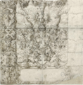 THE ARMS OF ZIMMERN WITHIN AN ELABORATE STRAPWORK DESIGN WITH PUTTI.PNG