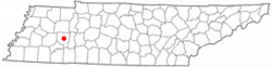 Location in Henderson County and the state of تنسی