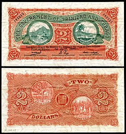 First government issue two-dollar note (1905).