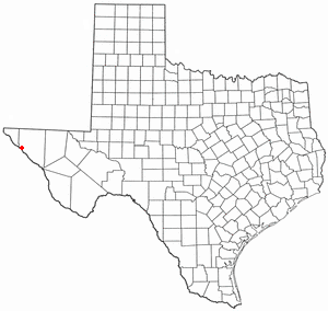 Fort Hancock, Texas - Image: TX Map doton Fort Hancock