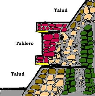 Talud-tablero Pre-Columbian architectural style