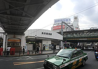 Takadanobaba Station Railway and metro station in Tokyo, Japan