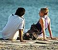 Talking at the sea shore (9587659058).jpg