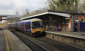 Taplow railway station - A British Rail Class 165 at Taplow, next to the ticket office