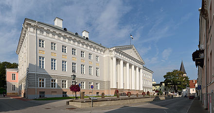 The University of Tartu is one of the oldest universities in Northern Europe and the highest-ranked university in Estonia. Tartu Ulikooli peahoone 2012.jpg