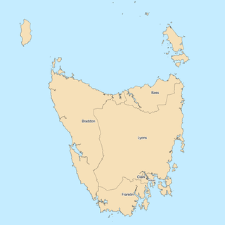 Tasmanian House of Assembly electoral divisions current state electorates of Tasmania