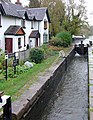 Tatenhill Lock and cottages near Branston, Staffordshire - geograph.org.uk - 1634952.jpg