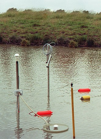 Dew pond - Instruments measuring condensation and evaporation at a Helmfleeth dew pond, 1970