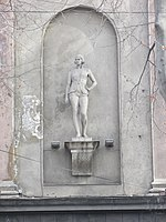 Tbilisi, Rustaveli cinema statue 1.JPG