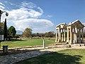 Tetrapylon of Aphrodisias with the Kenan Erim Tomb on the left.jpg