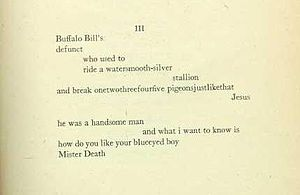 1920 in poetry - Image: The Dial Jan 1920 Cummingspoem
