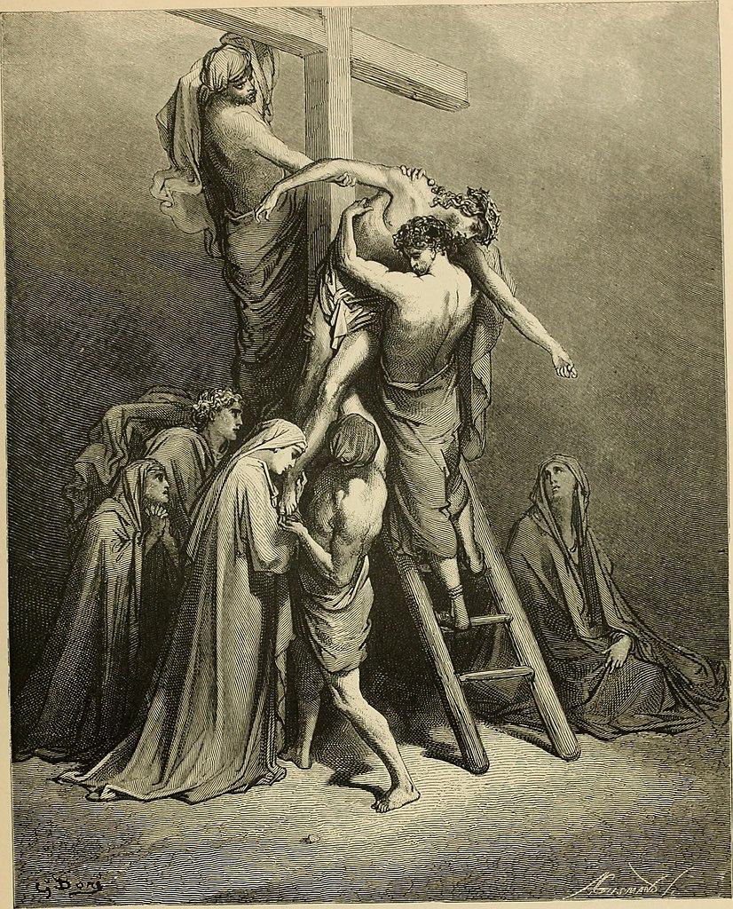 예수님을 십자가에서 내림 (귀스타브 도레, Gustave Dore, 1866년)