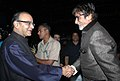 The Chief Guest Superstar Amitabh Bachchan shaking hands with the Union Minister for Finance, Corporate Affairs and Information & Broadcasting, Shri Arun Jaitley.jpg