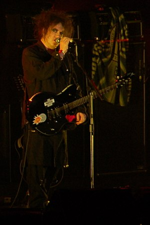 Goth subculture - Lead singer and guitarist Robert Smith of The Cure