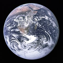 The Blue Marble; the Earth as seen from Apollo 17