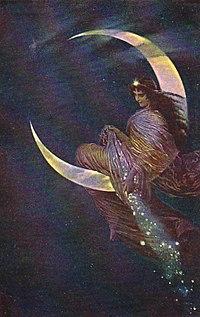 The Fairy of the moon by Hermann Kaulbach