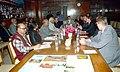 The Finnish Parliamentary Committee on Future led by the Chairman, Mr. Jyrki Katainen calls on the Lok Sabha Speaker, Shri Somnath Chatterjee in New Delhi on March 01, 2005.jpg